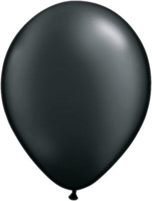 Latexballon Ballon Heliumballon Silvester Party schwarz