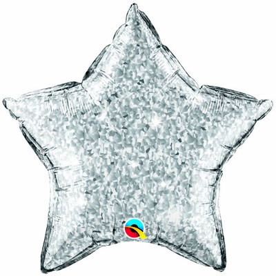 Folienballon Star Stern Ballon Heliumballon Silvester Party silber