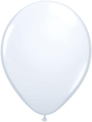 Latexballon Ballon Heliumballon Silvester Party weiß