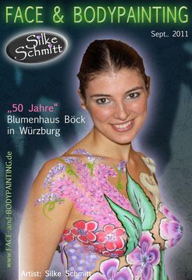 Bodypainting 50 Jahre - Blumenhaus Böck in Würzburg 2011