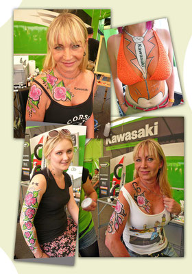 Musik + Bike-FESTIVAL Geiselwind mit KAWASAKI Team-Green-Live 2012