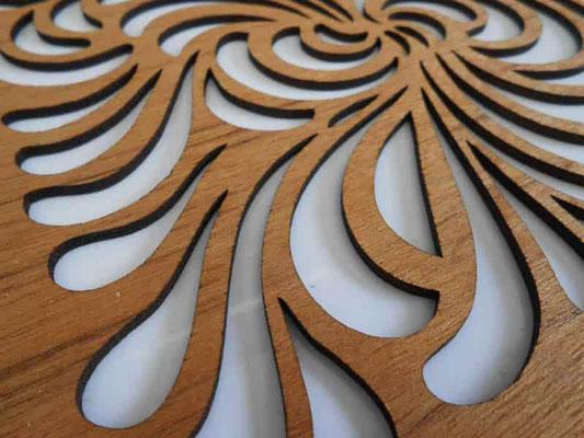Corte de madera con laser CO2