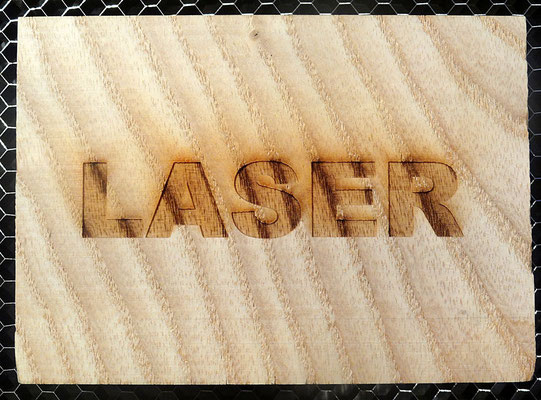 Madera grabado con laser