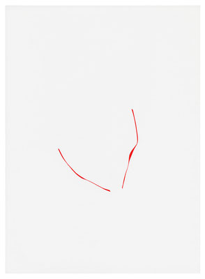 o.T. (PZ 10-2018), Self-adhesive film on paper, 31,5x23cm