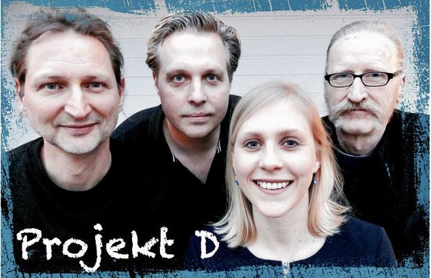 Band Projekt D - Gruppenfoto - editiert mit Logo