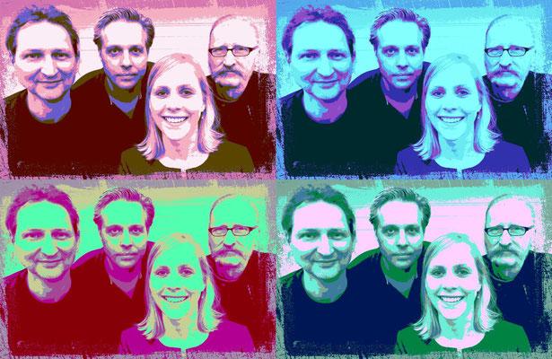 Band Projekt D - Gruppenfoto - editiert mit vier Farben