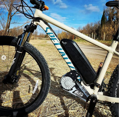 frame bolt on electric bike kit for mtb