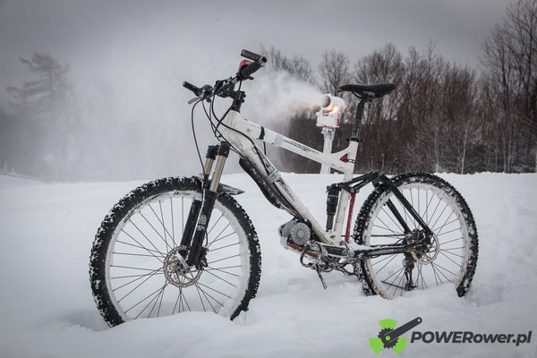 electric bike on snow
