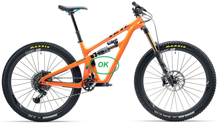 kit motore elettrico per mountain bike nel telaio.