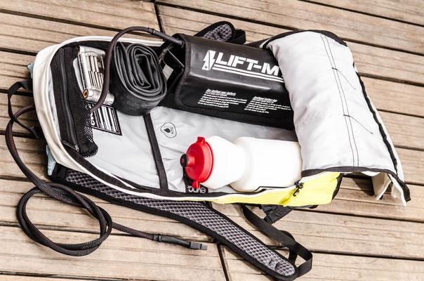 Batterie dans le sac à dos VTT électrique