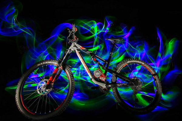 light painting bike