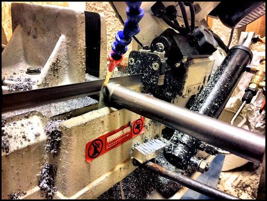 cut steel axle