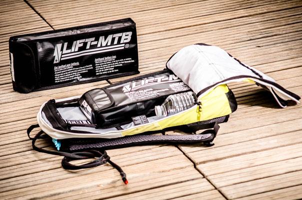 Dimensions batterie de VTTAE dans un sac à dos