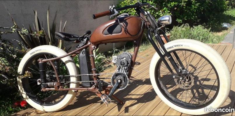 custom e-bike with electric motor