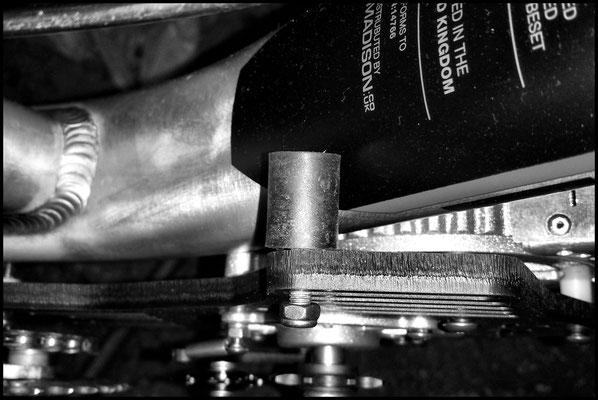 Vue du tampon de support moteur non raccourcis.