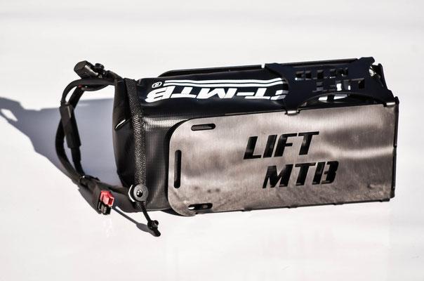 portaborraccia in alluminio con batteria 8.7