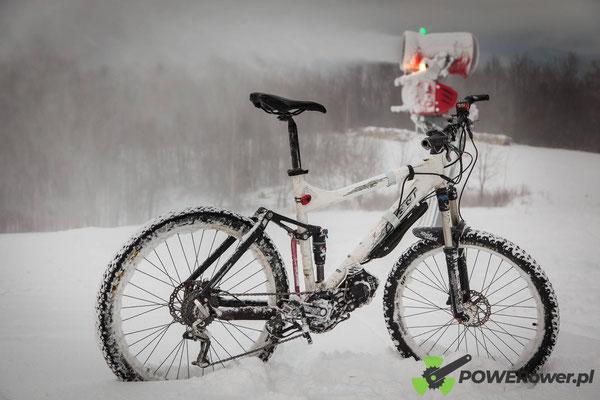 vtt electrique sur neige