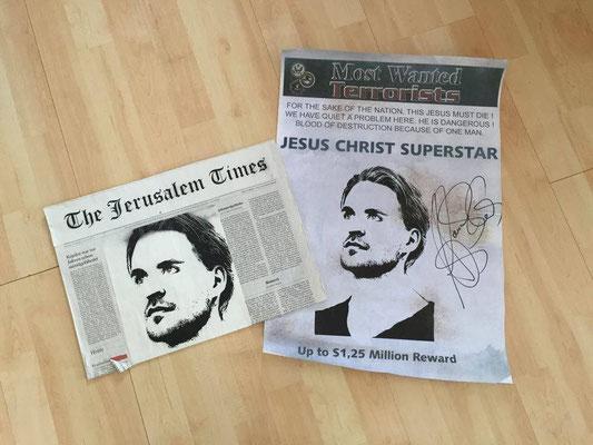 """Plakat und """"Jerusalem""""-News"""