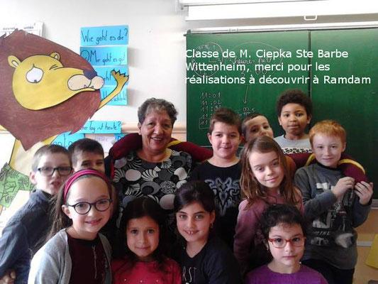 Les élèves de M. ciepka m'ont réalisé le lion personnage principal de mon conte merci à eux et à M. Ciepka