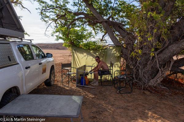 """unser letzter gemeinsamer Übernachtungsplatz im """"Sandsturm"""""""