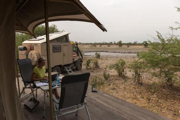 aufgelassenes Camp am Chobe River