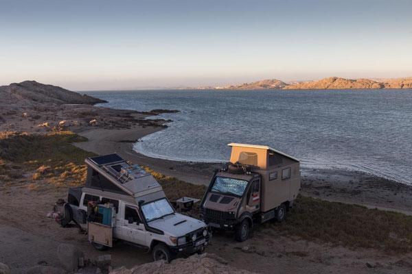 Standplatz mit Blick auf Lüderitz