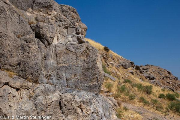 Herkules auf Löwenhaut in Bisotun
