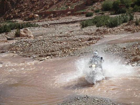 Furten macht Spass und manchmal auch nass