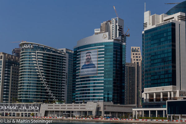 entlang des Dubai Kanals