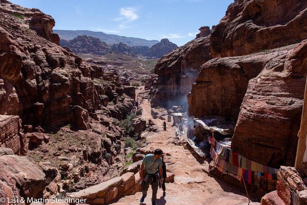 Aufstieg zum Ed Deir Petra