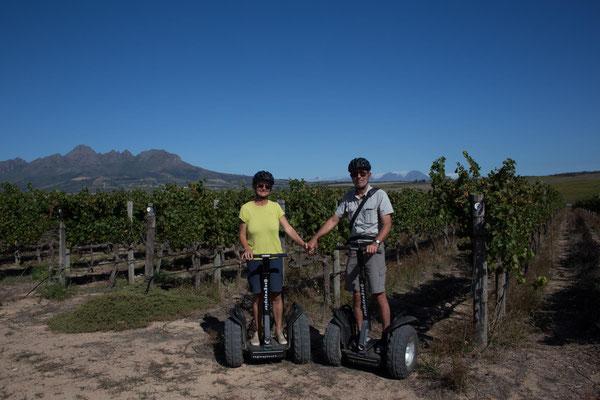 Segway-Tour mit Weinverkostung bei Spier