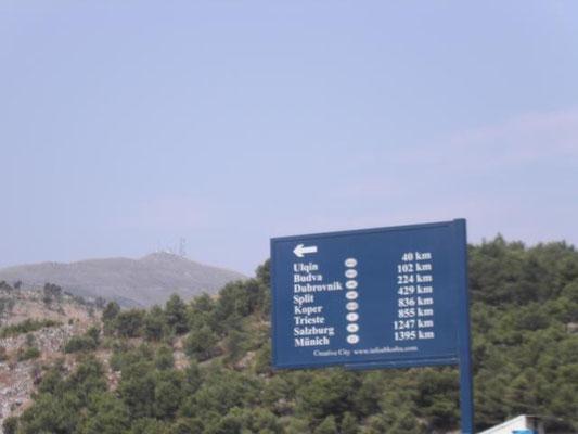 nur noch 1247 km bis Salzburg