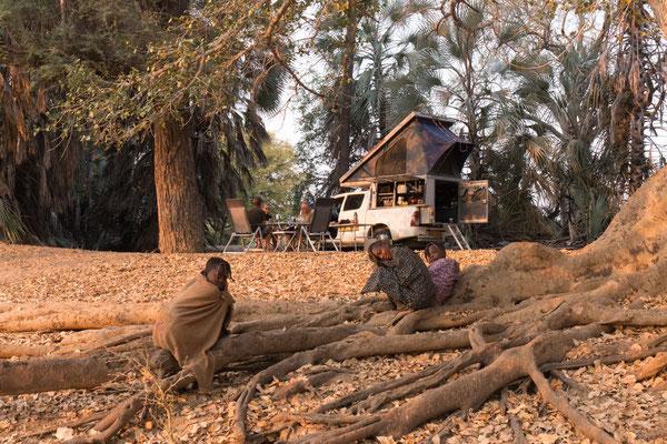 unser Nachtplatz am Kunene