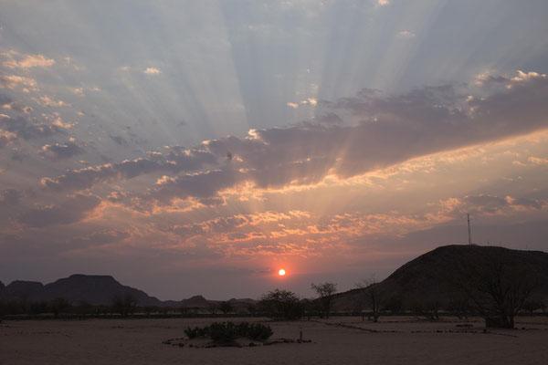Abendstimmung im Aba Huab Camp
