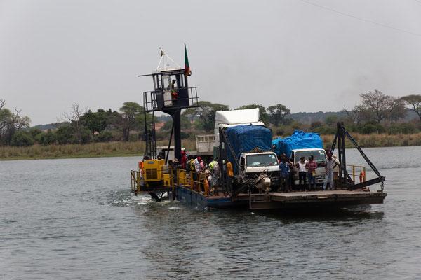 Kazungula-Fähre nach Botswana