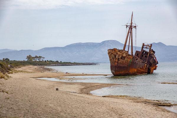 Schiffswrack bei Githio
