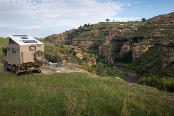 traumhafter Übernachtungsplatz Lesotho