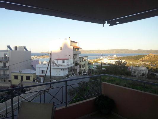Blick auf den Hafen von Lavrio