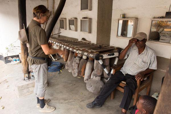 Lozi-Museum - grandioses,  marimbaähnliches Instrument