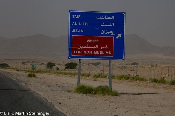 wir dürfen Mekka nicht mal aus der Ferne sehen