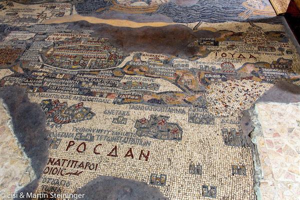 Madaba Landkarte