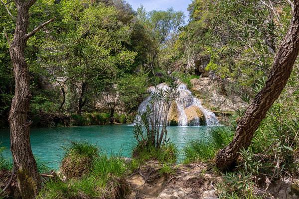 Polilimnio Wasserfällen bei Neohori