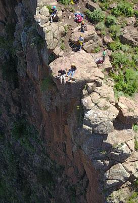 welthöchstes Abseiling an den Maletsunyane Falls