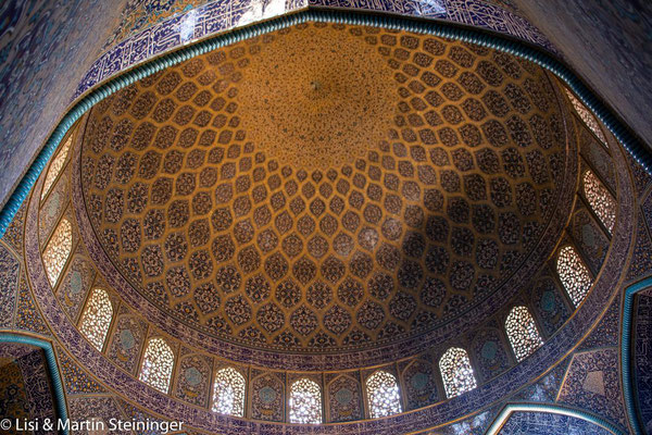 Kuppel in der Lotfullah-Moschee