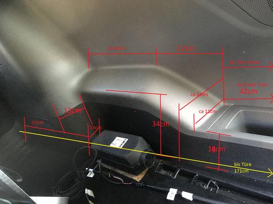 Standheizung eingebaut & Planungszeichnung