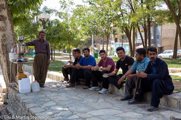 Teeepause in Marivan