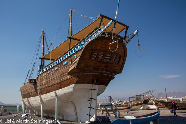 Fatah  al-Khair - die letzte hier gebaute große Dhow