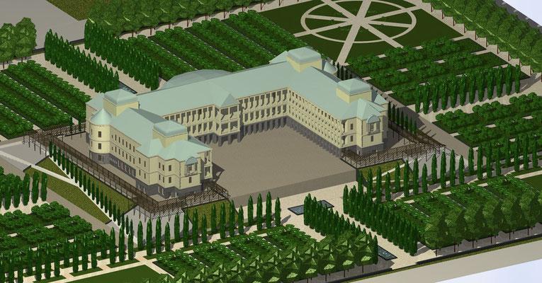 Gartenentwurf- Schlossrekonstruktion, Kabul (Garbe 2007)