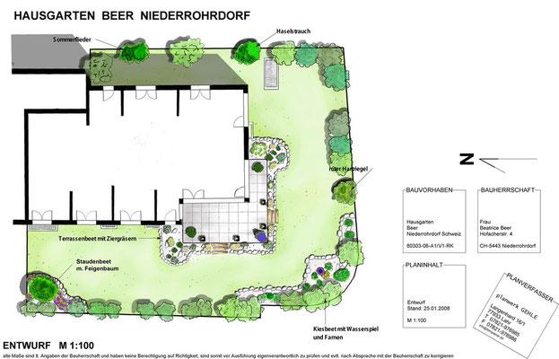 Gartenentwurf, (Büro Beer 2008)