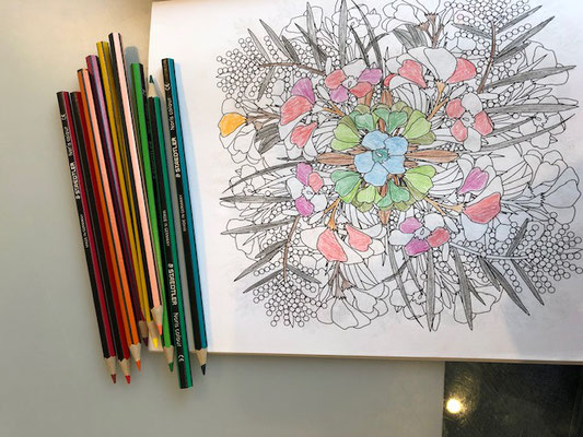 Art-thérapie - exemple de mandala